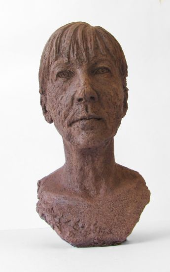 Self Portrait | 2013, Terracotta and Sand, 16 inches x 8 inches x 12 inches
