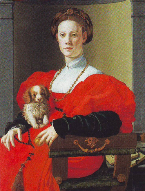 "AGNOLO BRONZINO, ""Portrait of a lady in red"""