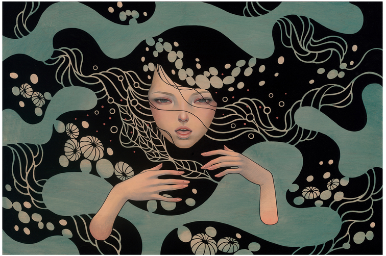 """Deep Waters"" by Audrey Kawasaki"