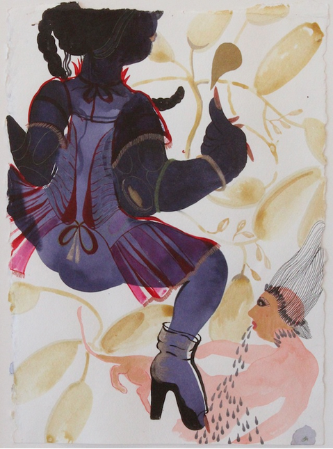 """""""Her jama would jingle as she stamped on her earth..."""" by Rina Banerjee 